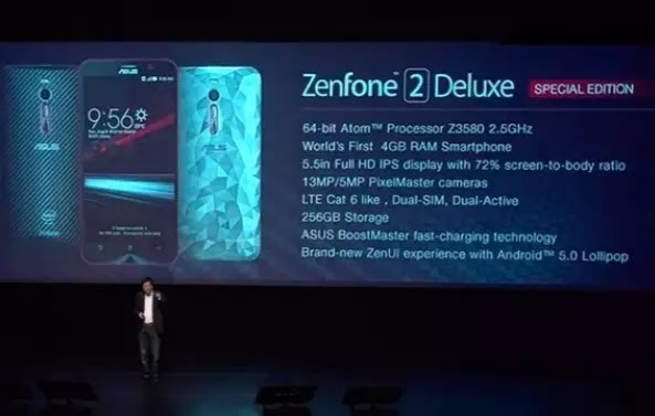 The New Asus ZenFone 2 Deluxe Special Edition will be Equipped with 256 GB of internal memory. 5