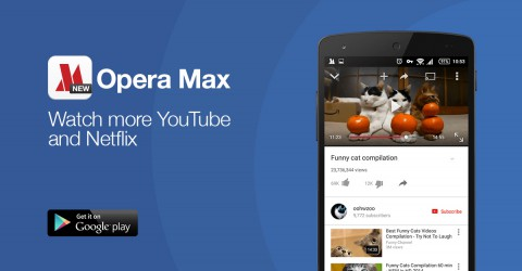 Latest Opera Max for android and ios can now compress video from YouTube