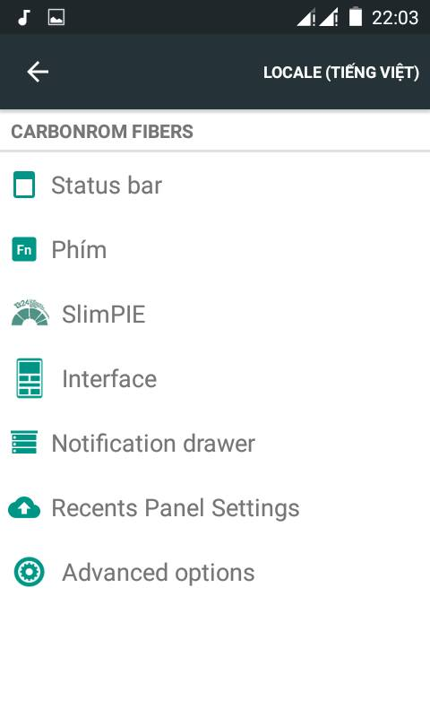 CARBON Lolipop 5.1.1 rom for Gionee p3 14