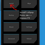 CARBON  Lolipop 5.1.1 rom for Gionee p3 4