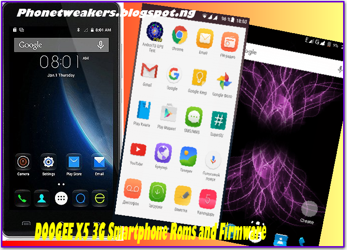 [Download][Firmware] All DOOGEE X5 3G Smartphone Custom Roms Collections.