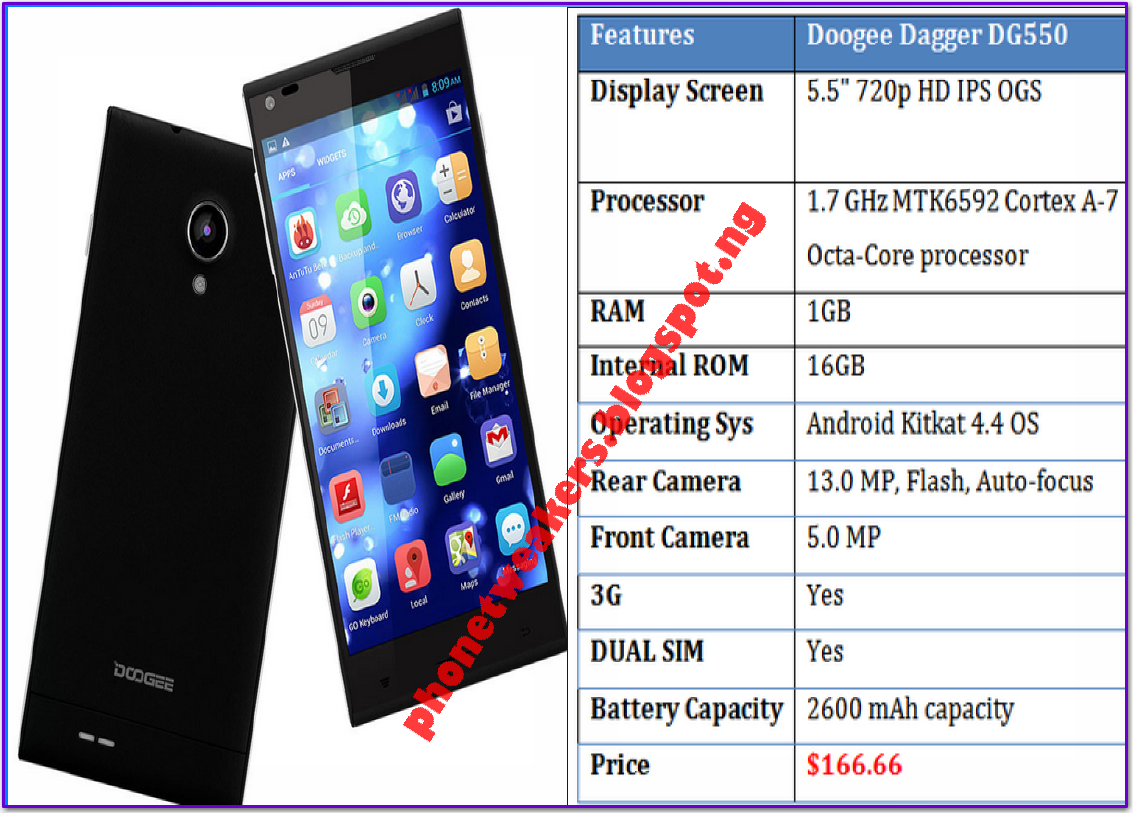 [Unbrick][Download] Stock Official DOOGEE DAGGER DG550 ROMS 1