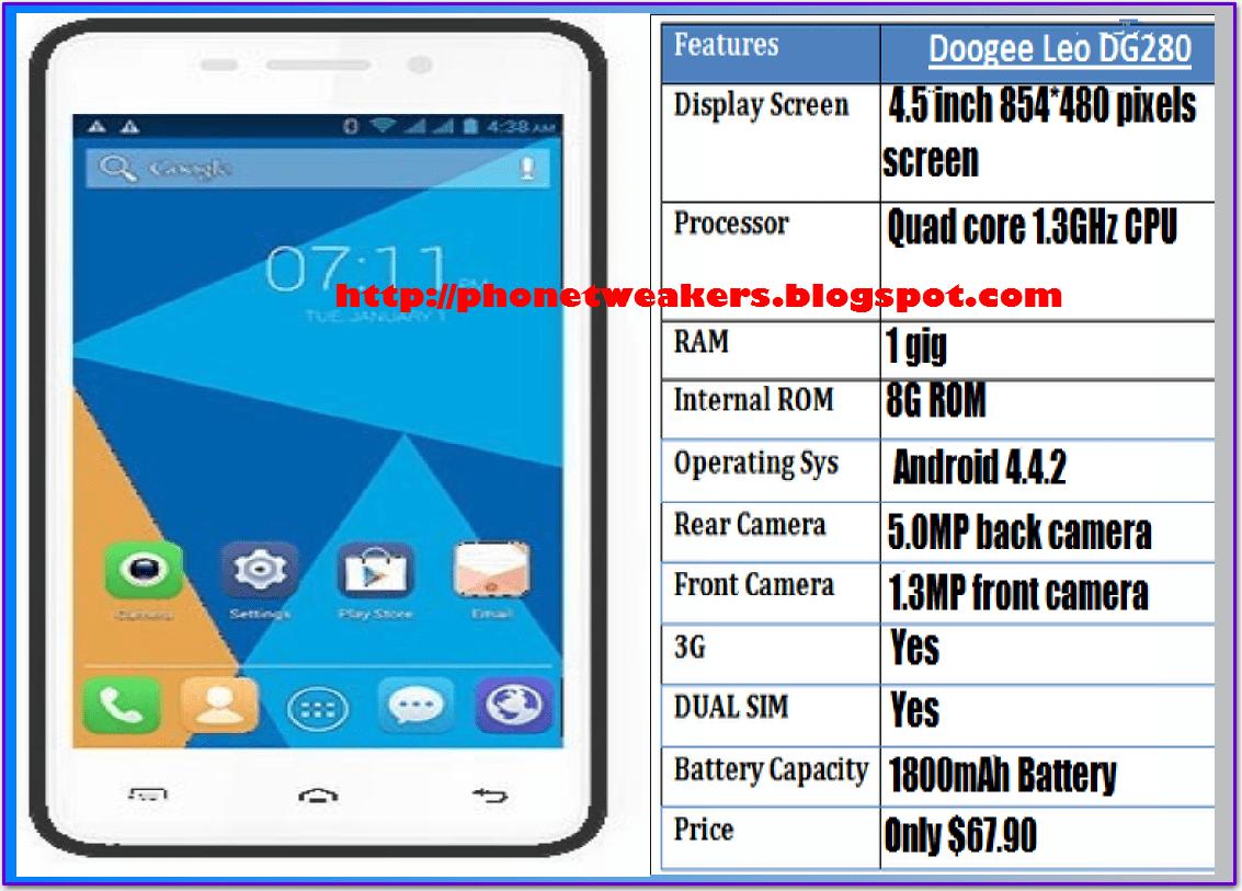 [Unbrick][Download] Stock Official Doogee LEO DG 280 Firmware (OS 4.4.X) 1