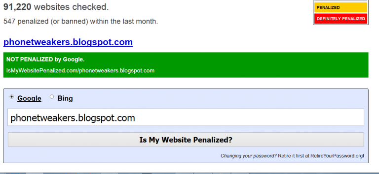 How To easily know If Your Website Is Penalized by Google & Bing and being Hidden In The Search Results.