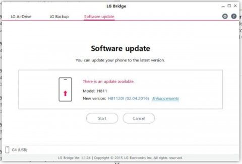 You Can Now Easily Update Your LG G4 To Android 6.0 Using L.g Bridge Pc Suite