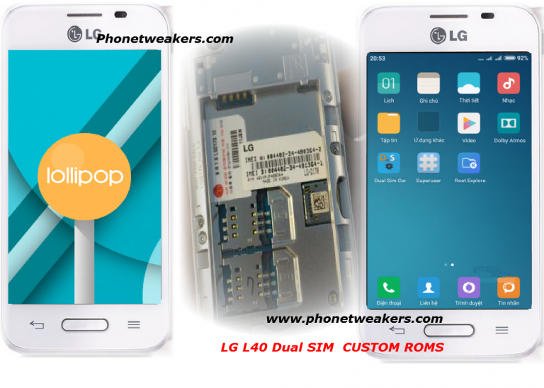 Android 4.4, 6.0 and 5.0 Custom Roms For LG L40 Dual ( LG D170)