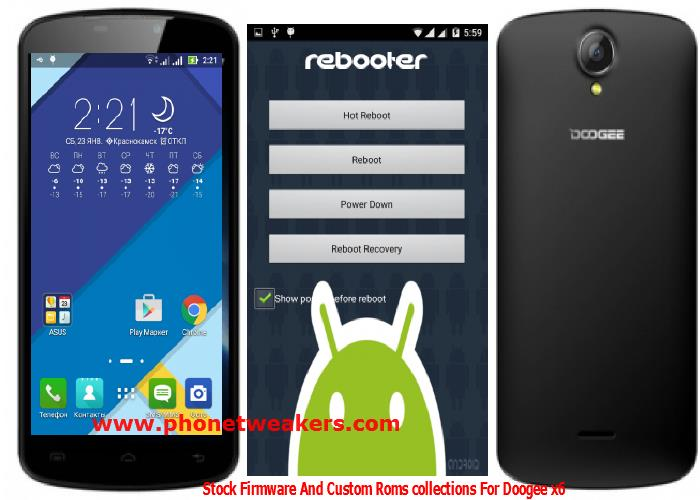 Doogee X6 Custom roms, Stock firmware and Recovery Collections 1