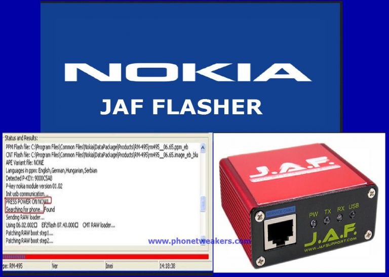 About Using Nokia JAF Flasher And Download Links