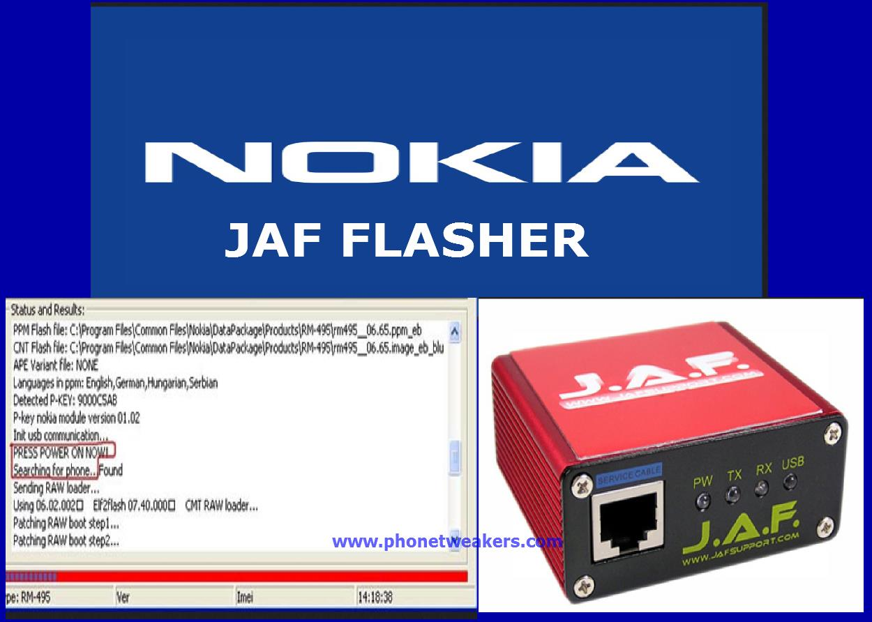About Using Nokia JAF Flasher And Download Links 3