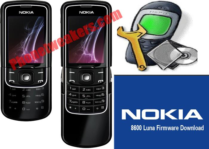 Nokia 8600 Luna Slide Latest Firmware Download