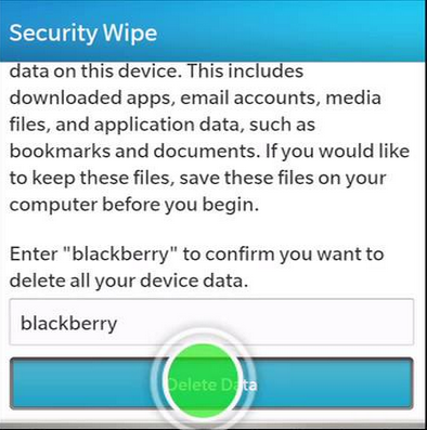 How to Hard Reset Any BlackBerry 10 Devices 11