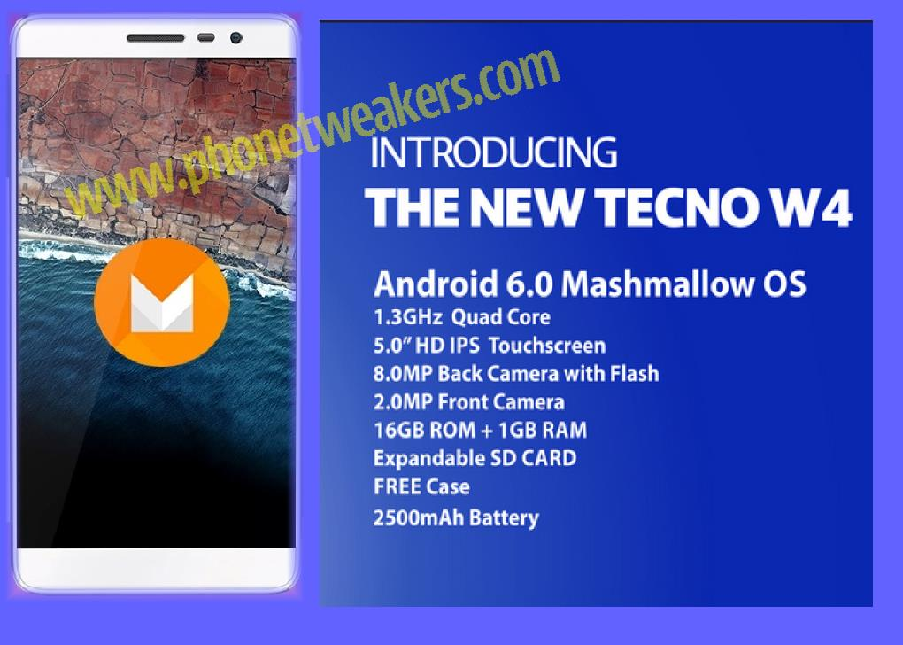 [Download] Stock Official Tecno W4 Firmware 5