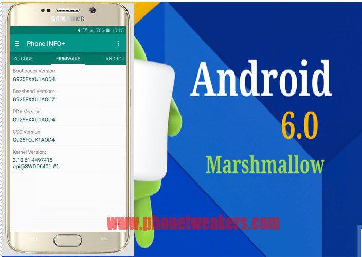 Samsung Galaxy S6 Edge SM-G925F firmware update
