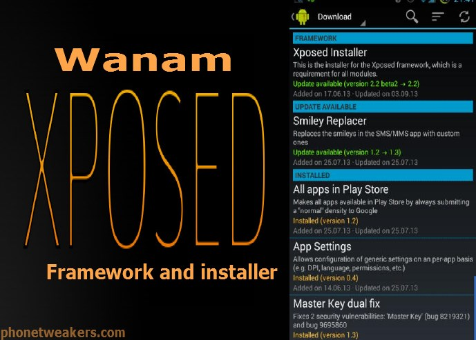 About Wanam xposed Installer For All Samsung Android Devices 21