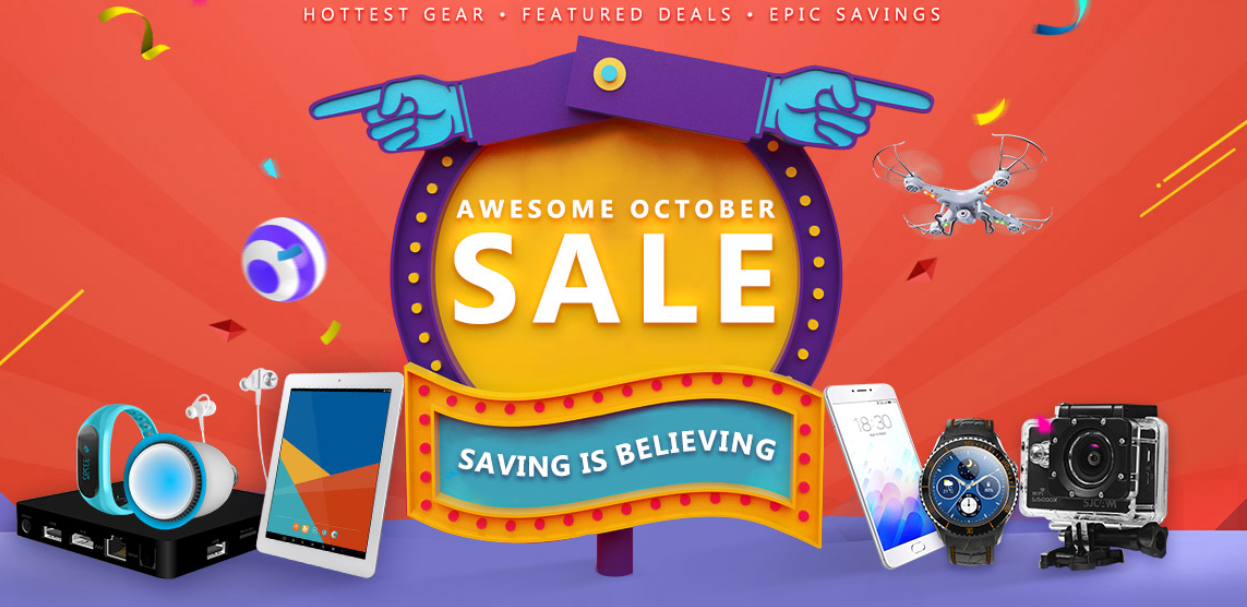 Awesome October Saving Promo Sale From Gearbest (Amazing Deals and Prices) 1