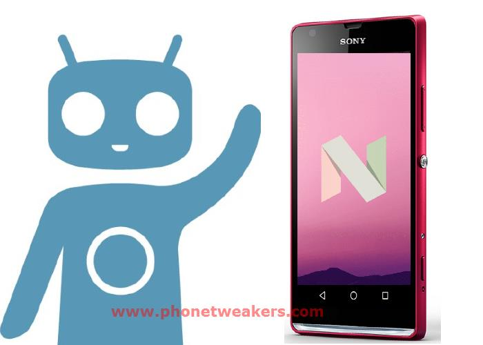 Official CyanogenMod 14.1 Nougat 7.1 Rom for Sony Xperia SP 1