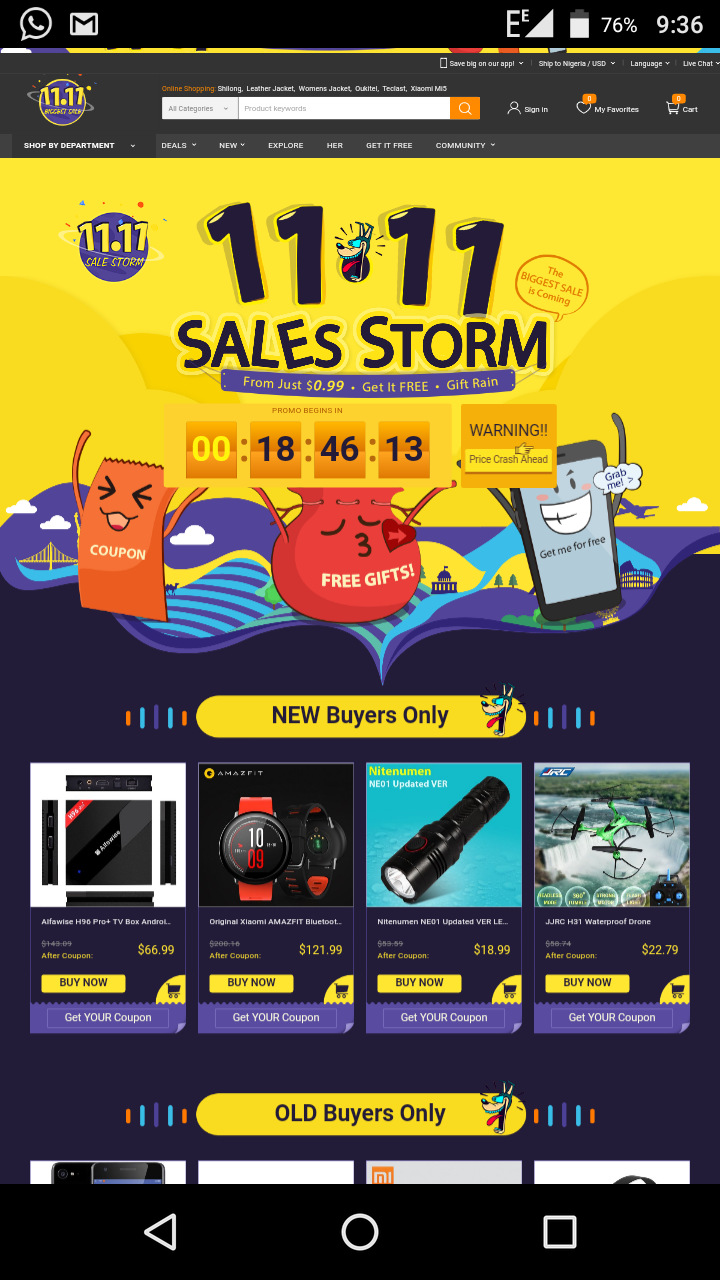 Gearbest 11.11 Single Day Sales Storm Promo is Here. 78