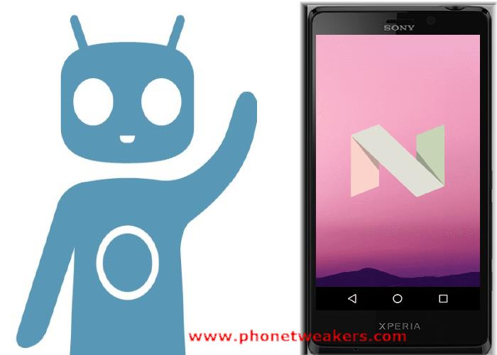 Official CyanogenMod 14.1 Nougat 7.1 Rom for Sony Xperia T 1