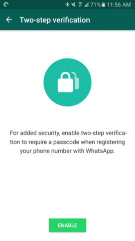 About WhatsApp Two-step Verification 6
