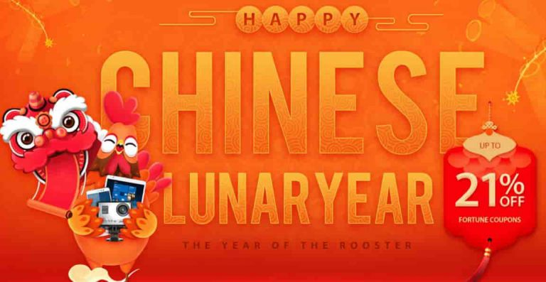 Happy Chinese Lunar Year Celebration Discounts, Coupons and Promo on Gearbest