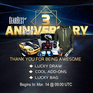 【Giveaway】Join in Gearbest 3rd Anniversary to win OnePlus 3T Smartphone
