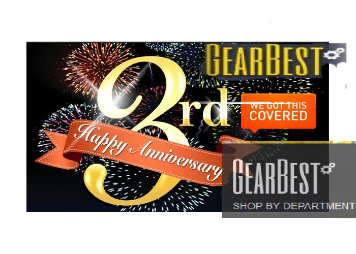 [Coupon Code] Happy Gearbest's 3rd Anniversary Top smartphones and Tablets Promo Sales and Price Discounts 25
