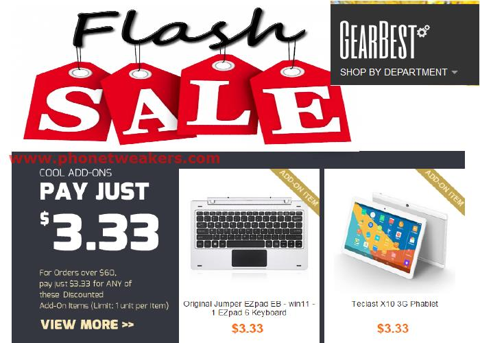 Daily Flash Sales, Coupons and Discounts on Smartphones and items Gearbest 1