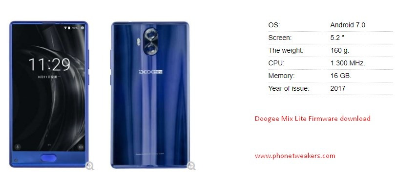 [Download][Firmware] Doogee Mix Lite Official Stock Roms Collections