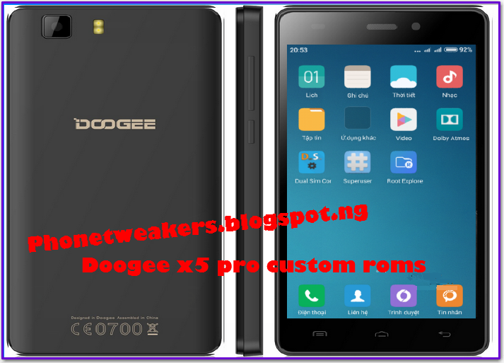 [Updated 2018][Firmware] CUSTOM ROMS, RECOVERY AND FIRMWARE FOR DOOGEE X5 PRO 8