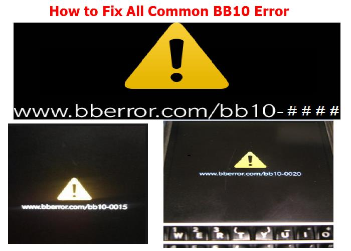 How to Fix All Common BB10 Error 13