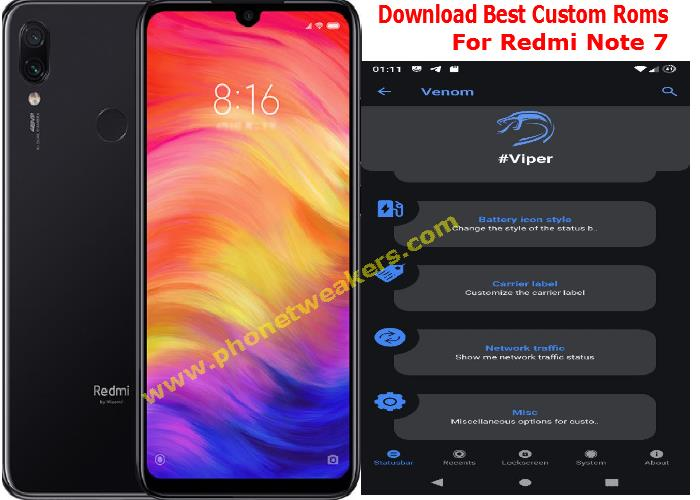 [Download] 6 Best Stable Custom ROMs for Redmi Note 7 5