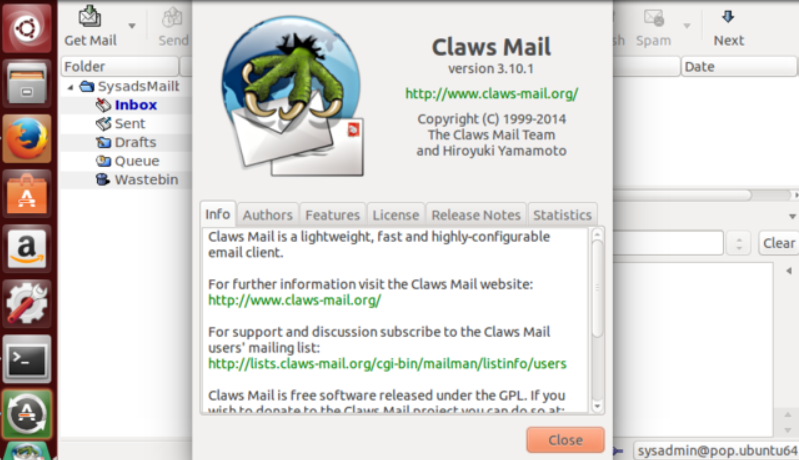 Claws Mail messaging application