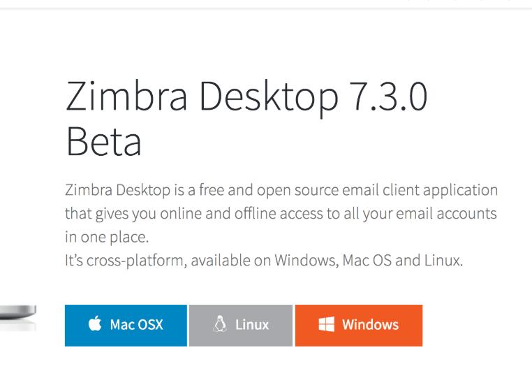 zimbra desktop software