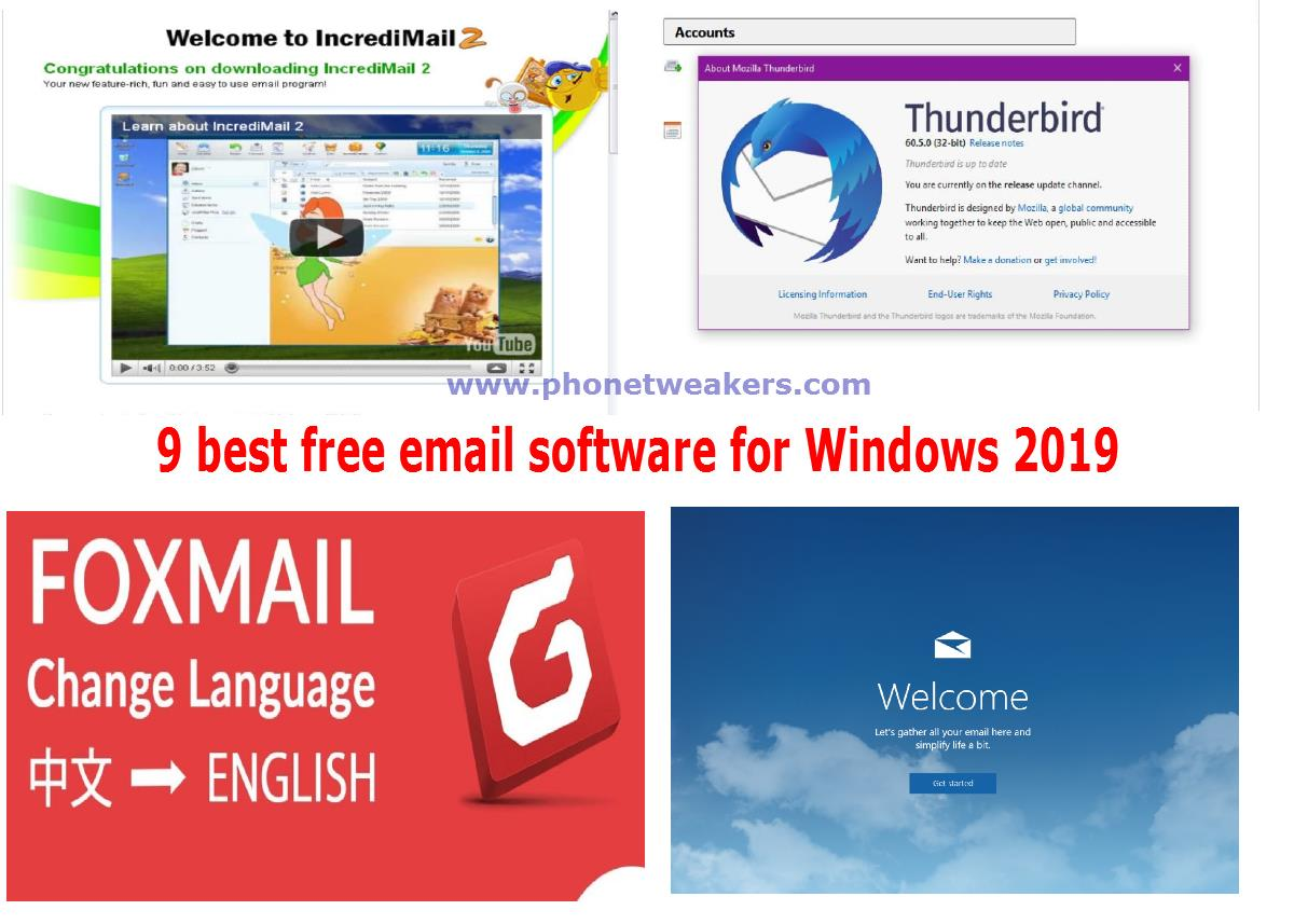 The 9 best free email software for Windows in year 2019