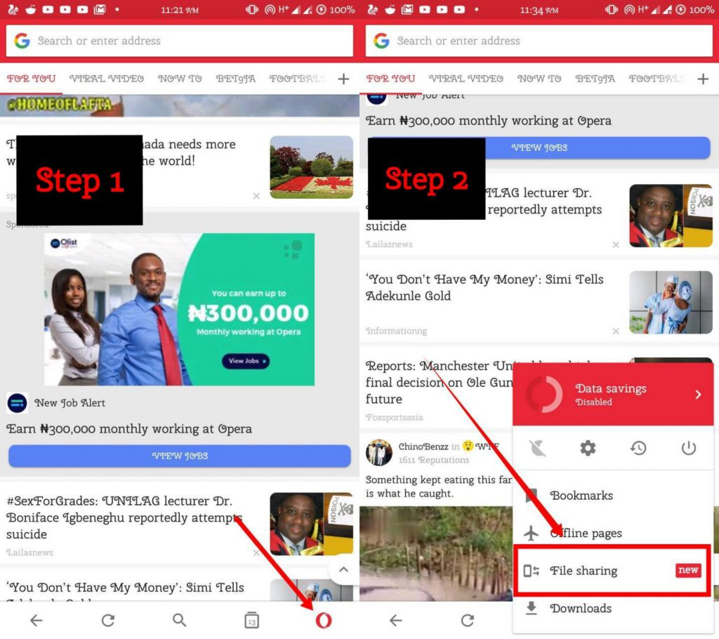 How to share offline files with Opera Mini? (Latest 2019 update) 1