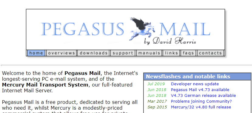 Pegasus Mail Windows email client
