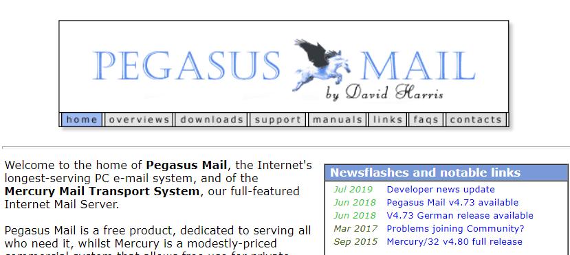 Pegasus Mail Windows email client