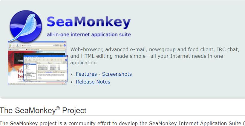 seamonkey messaging application