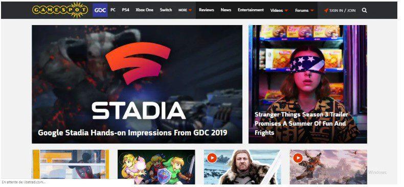 gamespot-website