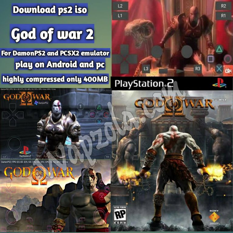 [Download] God Of War 2 DamonPS2 and PCSX2 emulator – PS2 APK ISO highly compressed play Android and pc