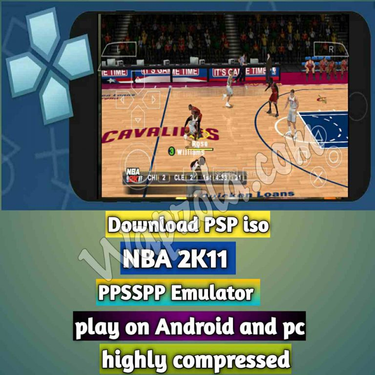 [Download] NBA 2K11 PSP ISO and Play with PPSSPP Emulator on Android (highly compressed 40mb)