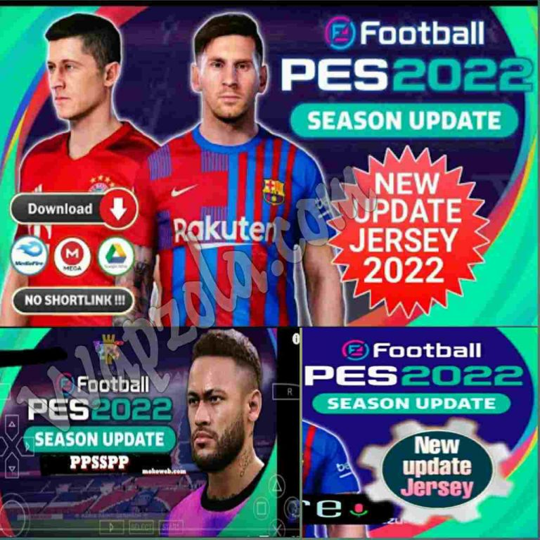 Download PES 2022 PPSSPP iso Android Season Update Best Graphics Camera PS5 & Camera NORMAL, (SAVADATA and TeXTURES included)
