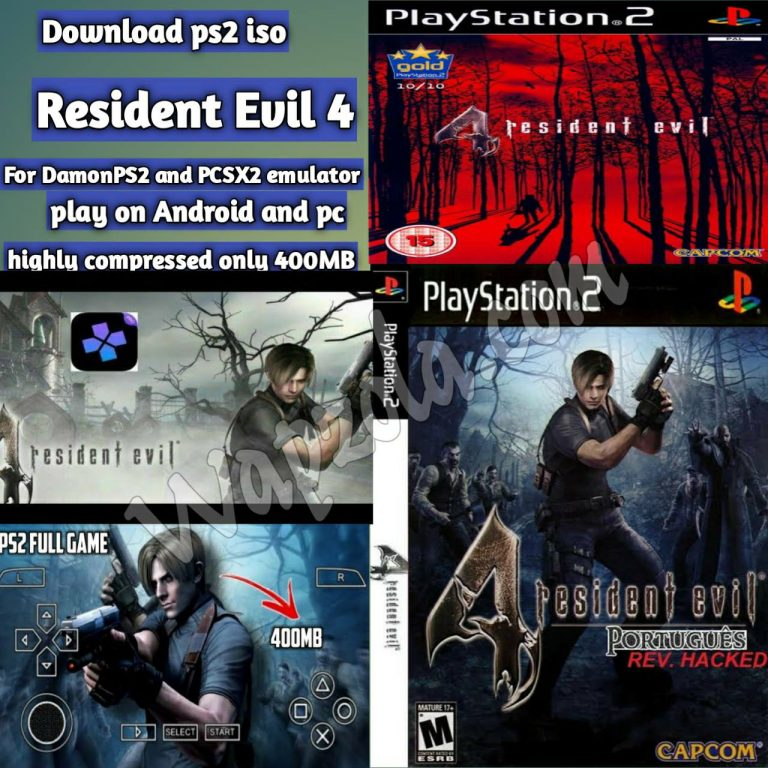 [Download] Resident Evil 4 DamonPS2 and PCSX2 emulator – PS2 APK ISO highly compressed play Android and pc
