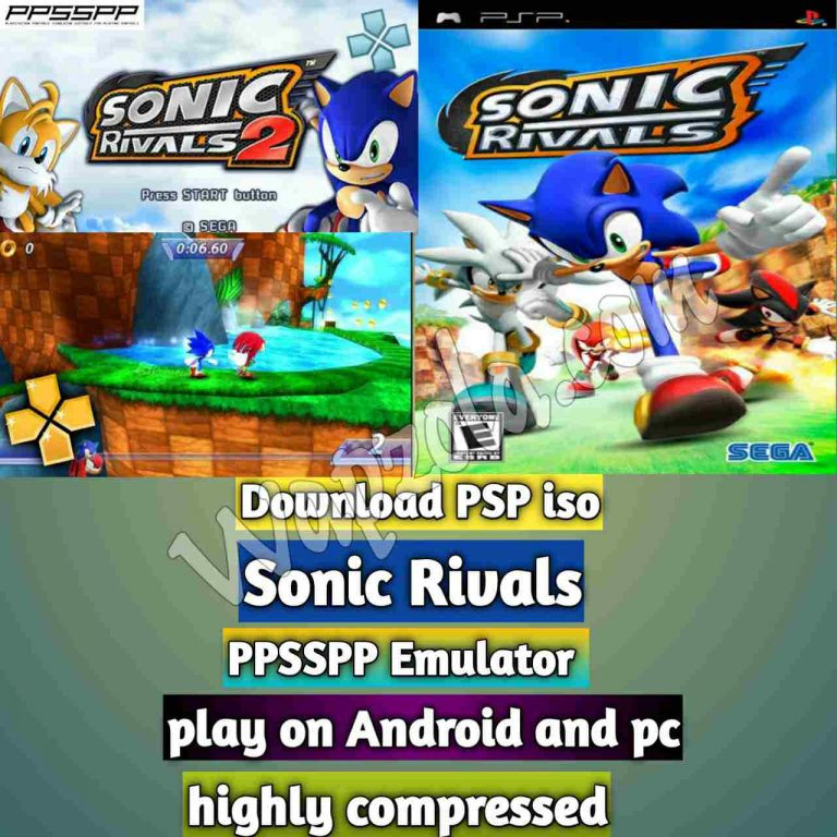 [Download] Sonic Rivals PSP ISO and Play with PPSSPP Emulator on Android (highly compressed 20mb)