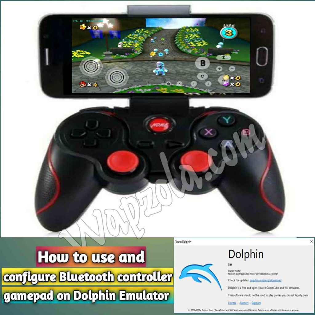 how to configure Bluetooth controller gamepad on Dolphin emulator