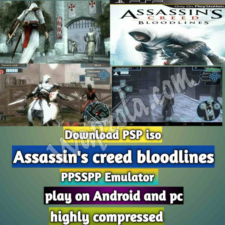 [Download] Assassin's creed bloodlines iso ppsspp emulator – PSP APK Iso ROM highly compressed 50MB