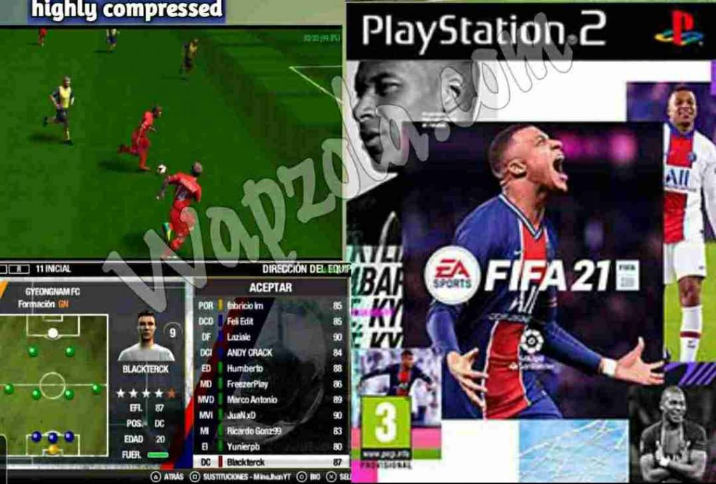 [Download] Fifa 2021 iso mod for DamonPS2 and PCSX2 emulator – PS2 APK Iso highly compressed play Android and pc 18