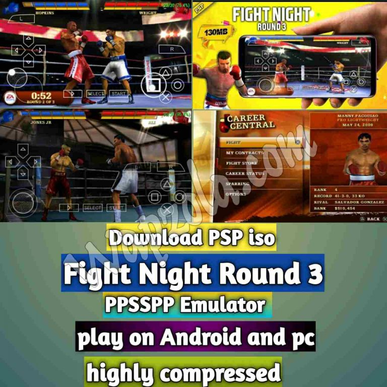 [Download] Fight Night Round 3 PSP ISO and Play with PPSSPP Emulator on Android (highly compressed 150mb)