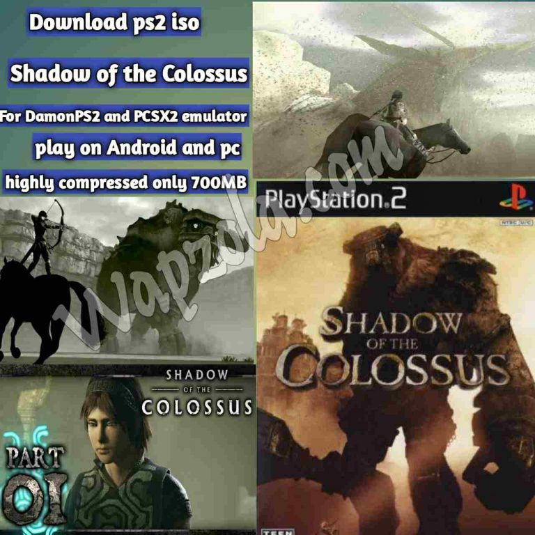 [Download] Shadow of the Colossus DamonPS2 and PCSX2 emulator – PS2 APK ISO ROM highly compressed play Android and pc
