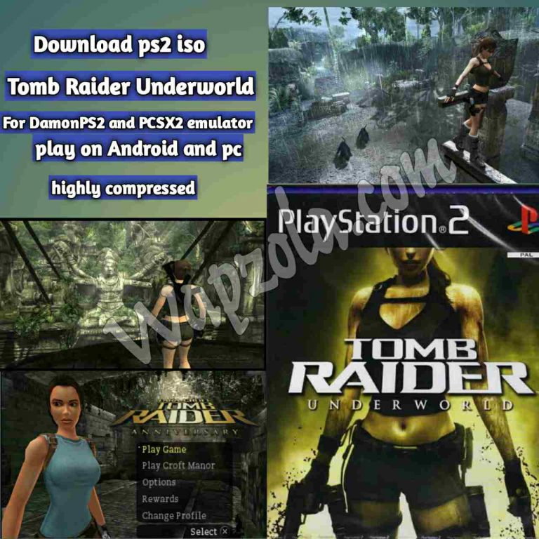 [Download] Tomb Raider Underworld DamonPS2 and PCSX2 emulator – PS2 APK ISO ROM highly compressed play Android and pc